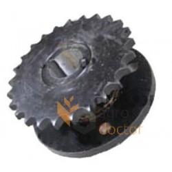 Baler wheel double hub
